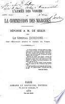 L'armée des Vosges et la commission des marchés
