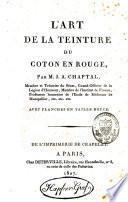 L'art de la teinture du coton en rouge