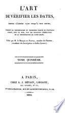 L'Art de vérifier les dates depuis l'année 1770 jusqu'à nos jours: 1834