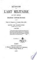 L'art militaire au 19. siècle stratégie, histoire militaire