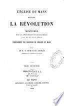 L'Église du Mans durant la Révolution