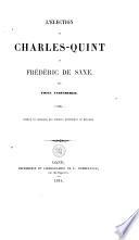 L'élection de Charles-Quint et Frédéric de Saxe