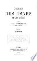 L'empire des tsars et les Russes: La religion