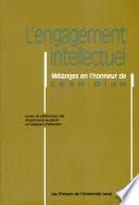 L'Engagement intellectuel
