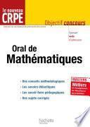 L'épreuve orale de mathématiques au nouveau CRPE