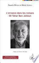L'errance dans les romans de Tahar Ben Jelloun