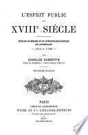 L'esprit public au XVIIIe siècle