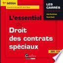 L'essentiel du droit des contrats spéciaux 2015-2016