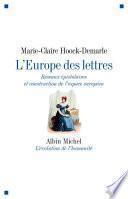 L'Europe des lettres