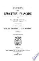 L'Europe et la revolution francaise..