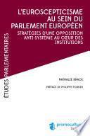 L'eurosceptiscisme au sein du parlement européen