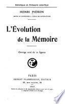 L'évolution de la mémoire