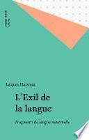 L'Exil de la langue