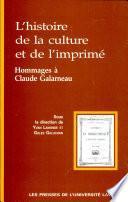 L'histoire de la culture et de l'imprimé