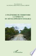 L'ingénierie de territoire à l'épreuve du développement durable