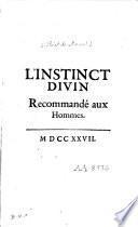 L'instinct divin recommandé aux hommes