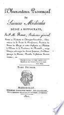 L'Observateur provençal des sciences médicales, dédié a Hippocrate