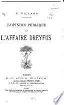 L'opinion publique et l'affaire Dreyfus