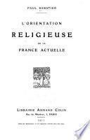 L'orientation religieuse de la France actuelle