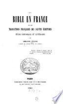 La Bible en France