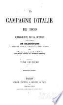 La campagne d'Italie de 1859