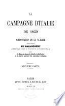 La campagne de l'Italie de 1859