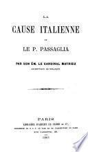 La cause italienne et le P. Passaglia