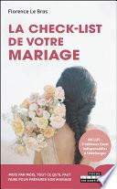 La Check-list de votre mariage