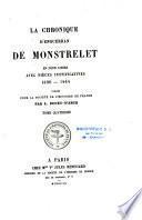 La chronique d'Enguerran de Monstrelet