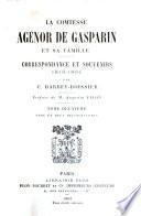 La comtesse Agénor de Gasparin et sa famille