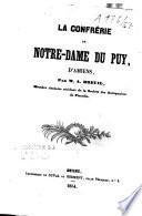 La confrérie de Notre-Dame du Puy d'Amiens