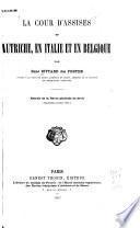 La cour d'assises en Autriche, en Italie et en Belgique