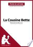 La Cousine Bette d'Honoré de Balzac (Fiche de lecture)