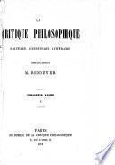 La Critique philosophique