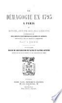 La démagogie en 1793 à Paris