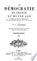 La démocratic en France au Moyen Âge