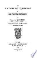 La doctrine de l'expiation et son évolution historique