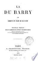 La Du Barry, par E. et J. de Goncourt