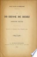 La duchesse de Berri