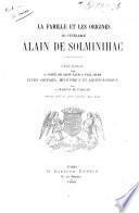 La famille et les origines du vénérable Alain de Solminihac