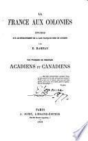 La France aux colonies