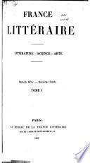 La France littéraire