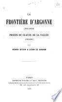 La frontière d'Argonne (843-1659)