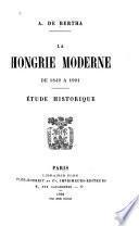 La Hongrie moderne de 1849 à 1901