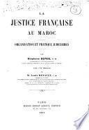 La justice française au Maroc