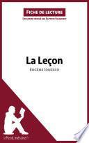 La Leçon de Eugène Ionesco (Fiche de lecture)
