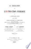 La législation de l'instruction publique de la république d'Haïti (1804-1895)