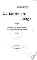 La littérature belge