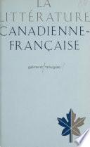 La littérature canadienne-française