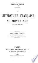 La littèrature française au moyen âge